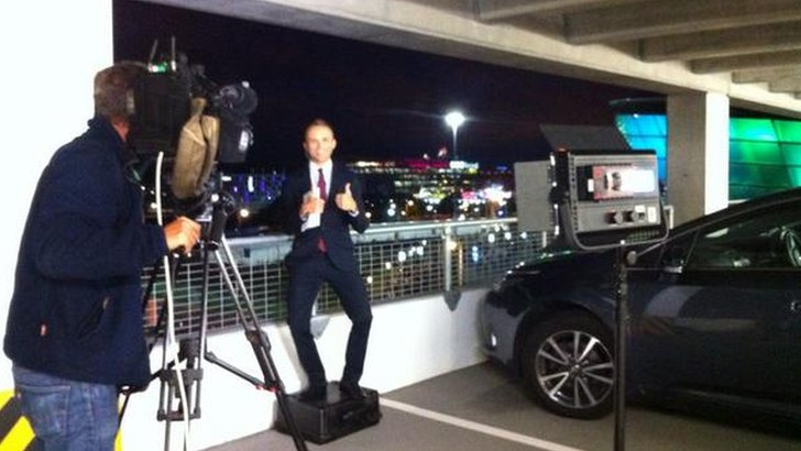 Jonathan Sutherland live from a car park