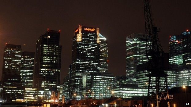 A picture of the skyline of the City of London