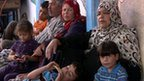 Families at UN-run school in Gaza