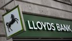 A sign outside a branch of Lloyds Bank in the City London