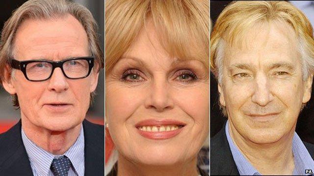 Bill Nighy, Joanna Lumley and Alan Rickman