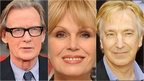 Bill Nighy, Joanna Lumley and Alan Rickman