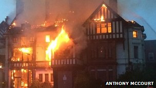 Manor House Cadbury home fire July 30 2014 Birmingham