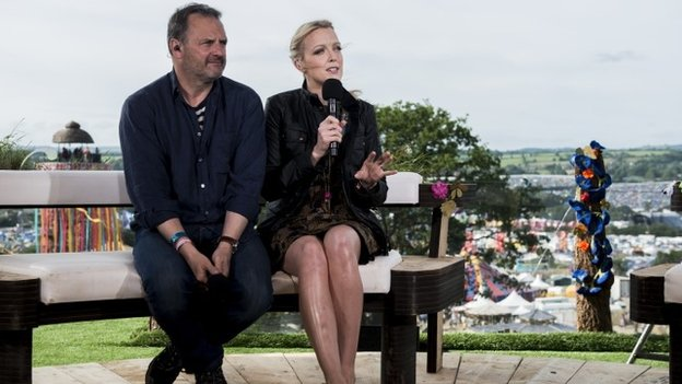 Mark Radcliffe and Lauren Laverne