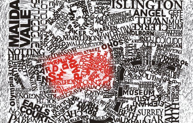 London Map by Mark Andrew Webber