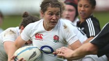 England hooker Emma Croker carries the ball against New Zealand in July 2013