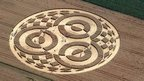 Crop circle in field in Bavaria, southern Germany