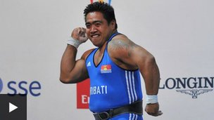 David Katoatau wins Kiribati's first ever Commonwealth Games gold medal