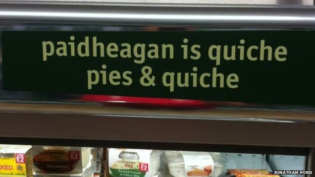 Incorrect Welsh signs at Bedwas Co-operative