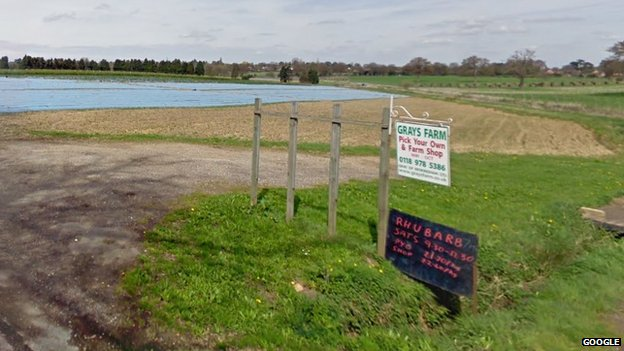 Grays Farm in Heathlands Road in Wokingham