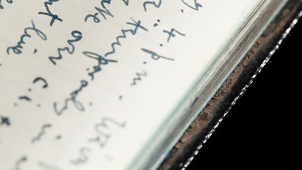 Traces of mud found on Siegfried Sassoon's journal bindings