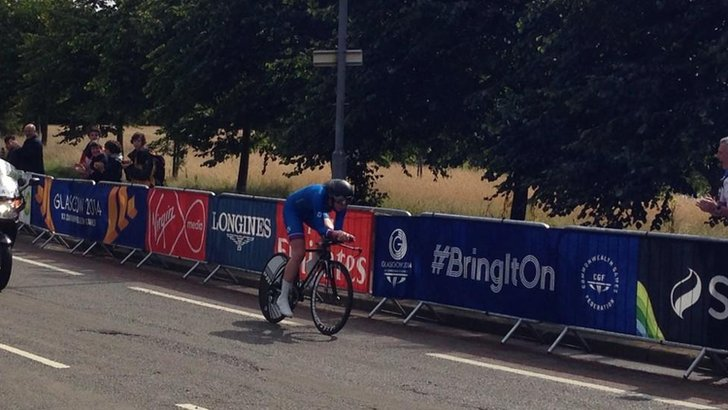 Katie Archibald in the time trial