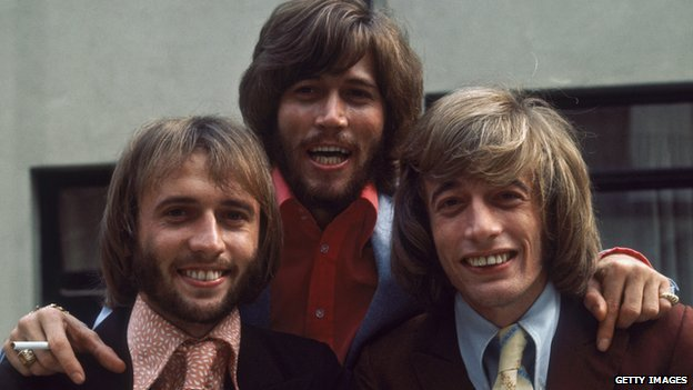 The Bee Gees (l-r) Maurice, Barry and Robin Gibb