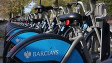 Barclays sponsored hire bikes