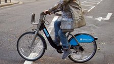 A Barclays bike scheme user