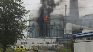 Fire at power station