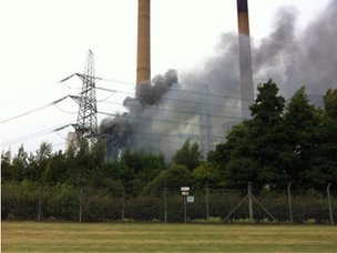 Fire at Ferrybridge