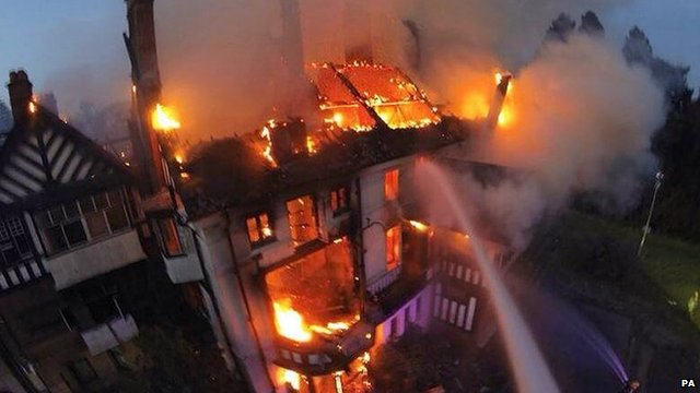Fire at Northfield Manor House