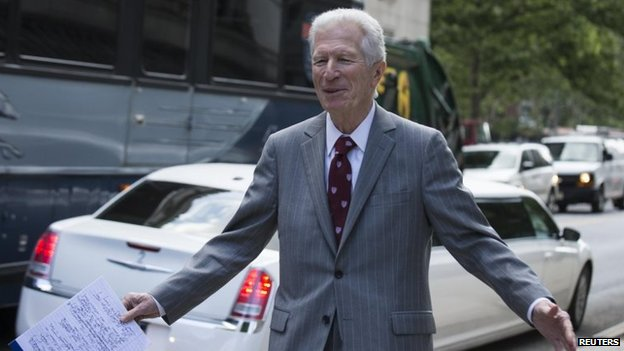 New York financial trial lawyer Daniel Pollack exits the US District Court for the Southern District of New York in Lower Manhattan on 27 June, 2014.