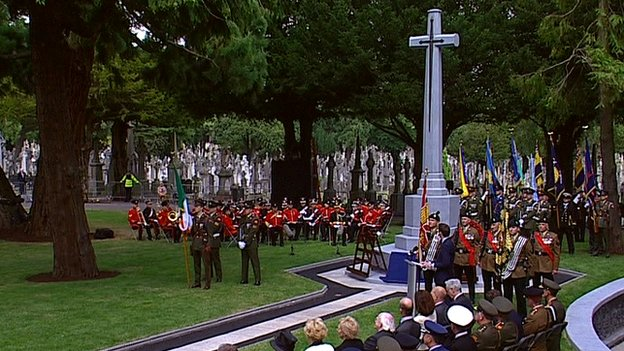 Cross dedicated at Glasnevin