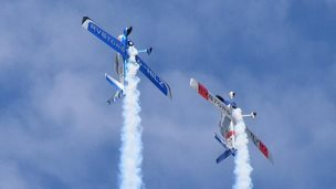 The RVators carry out acrobatics at at Culdrose Air Day. Pic: Kevin Thomas