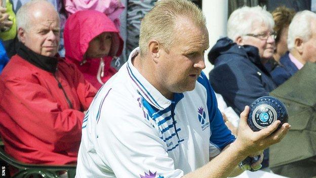 Scottish bowler Darren Burnett