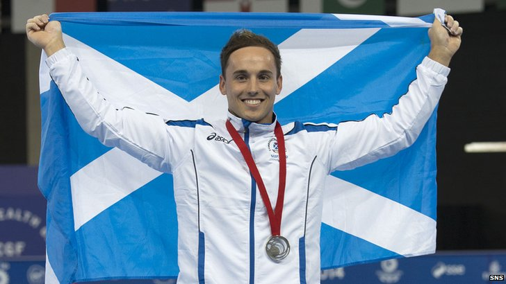 Daniel Keatings failed to add a bronze to his silver medal he won yesterday