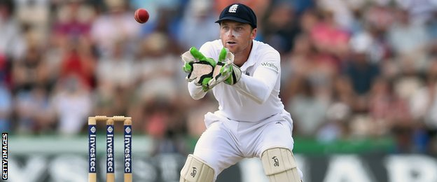 On his Test debut, Jos Buttler scored 85 runs off 83 balls and took six catches as wicketkeeper