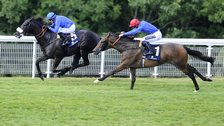 Cavalryman and Ahzeemah in the Goodwood Cup