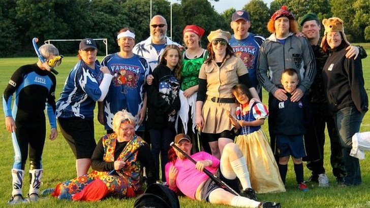 The Vandals softball team play in fancy dress in the last game of every season