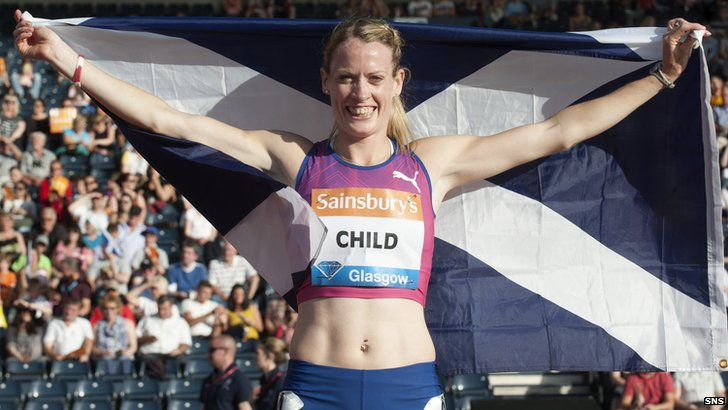 Eilidh Child is after a 400m hurdle medal