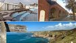 Jubilee Pool Lido, archs in Portsmouth and the coast in Lands End