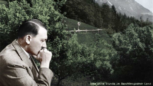 Hitler looking pensive