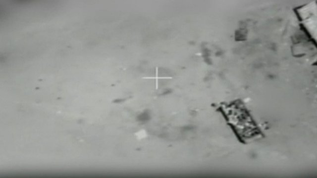 Israeli footage of aborted airstrike
