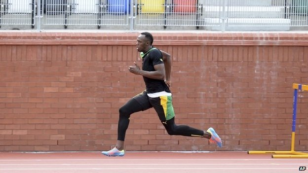 Usain Bolt at Lesser Hampden