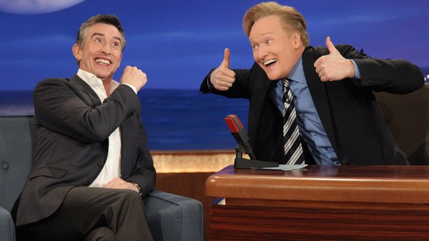 Steve Coogan and Conan O'Brien