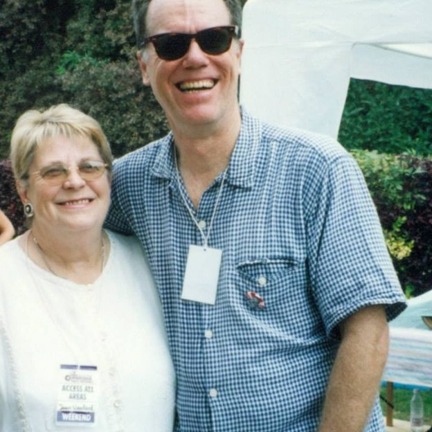 Joan Woollard and Loudon Wainwright III at the festival in 1999