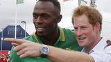 Usain Bolt and Prince Harry