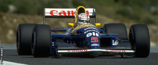 Williams' Nigel Mansell