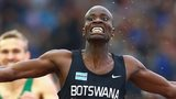 Nijel Amos of Botswana wins the 800m at Glasgow 2014
