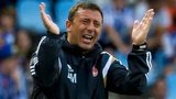 Aberdeen manager Derek McInnes barks orders from the touchline against Real Sociedad