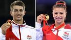 Max Whitlock and Claudia Fragapane