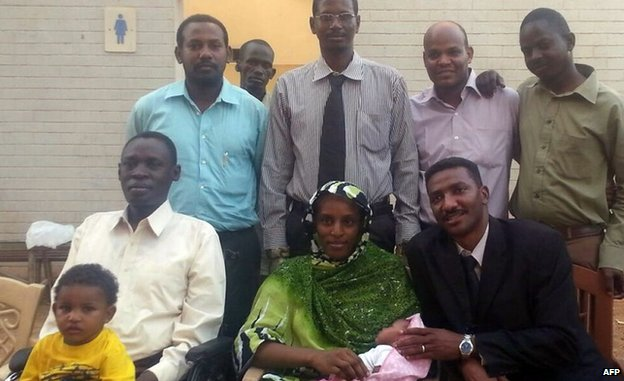 Meriam Ibrahim with family