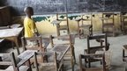 Cathetheral Catholic School which is closed in Monrovia, Liberia