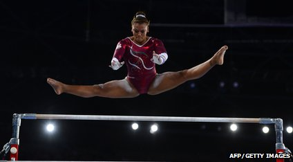 English gymnast Rebecca Downie