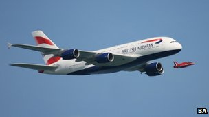 A British Airways Airbus A380