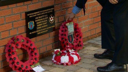 wreath laid at UDA memorial