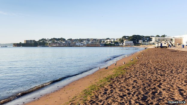 Paignton beach. Pic: Thinkstock