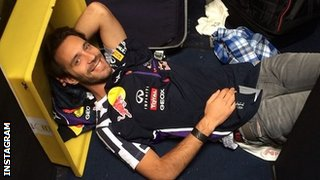 Jean-Eric Vergne takes time out while in Assen for a promotional event with Red Bull Racing