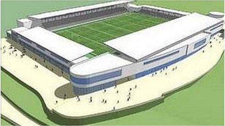 Artist's impression of Stadium for Cornwall